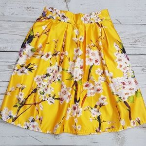 Floral print skirt one size fits all